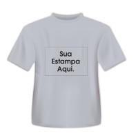 Camiseta Personalizada Cinza - Poliéster - Área Impressa 21x29 262e1eda23ed4