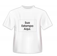 Camiseta Personalizada Branca - Poliéster - Área Impressa 21x29 00ef37f22282f