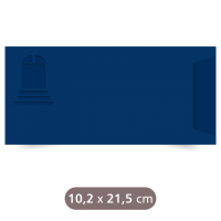 Envelope Azul Marinho - Wind - Color Plus - 10,2x21,5 cm