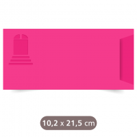 Envelope Rosa - Wind - Color Plus - 10,2x21,5 cm