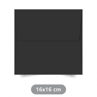 Envelope Preto - Color Plus - 16x16 cm
